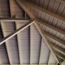 The porch roof at the events pavilion.